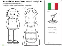 ... ART - Europe Crafts on Pinterest   Paper Dolls, Geography and Italy