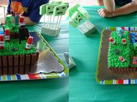 Minecraft homemade cake