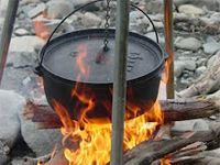 Who needs a living quarters horse trailer when you've got a Dutch Oven.