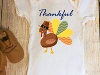Holiday Onesie, Fall Onesies, Thanksgiving Onesie, Christmas Onesie / turkey onesie, fall onesie, leaf onesie, leaves onesie, tree onesie, thankful, thanksgiving, christmas