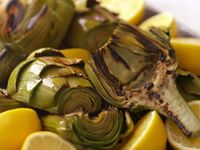 Artichoke With Baked Brie Sauce Recipe — Dishmaps