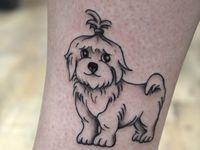 9 Hund tattoo ideen-Ideen in 2021 | hund tattoo ideen