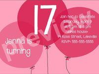 Birthday Girl Invitation as beautiful invitation template