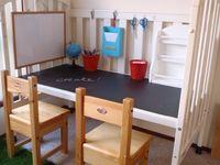 baby crib into desk