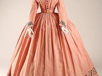 C: Mid19c: 1860-1865 Dresses (and so forth)