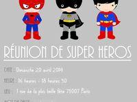 anniversaire super héros