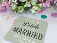 VINTAGE WEDDING AND PARTY IDEAS / Vintage hire ideas and personalised beer mats for all occasions!