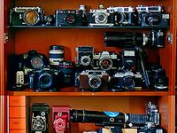 Cameras old and new