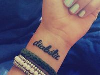 12 Best Images About Diabetic Tattoo On Pinterest  Type 1 Diabetes The High And Medical