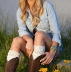 Its Cold outside and the perfect rodeo cowgirl accessory is Lace boot socks or Leg warmers.