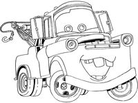 mater from cars coloring pages | 17 Best images about disney cars on Pinterest | Activity ...