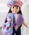 Dolls crochet or knitted clothes