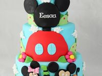 MICKEY & MINNIE Fondant Cake