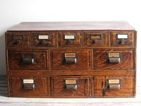 A pictorial ode to my obsession with card catalogs and apothecaries.