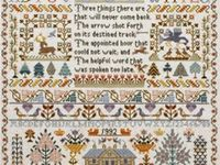 I love to cross stitch, and I tend to work on a small number of long term projects. I'm collecting inspiration for the sort of patterns that I might like to try next.