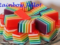... Rainbow jello and cakes on Pinterest | Rainbow Cakes, Rainbow Jello