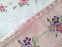 ponto cruz toalhas