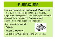 INSTRUMENTS D'AVALUACIÓ