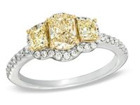 White Gold  Trio Bridal Ring At Zales