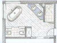 28 besten bad grundriss bilder auf pinterest bad for Grundrisse badgestaltung