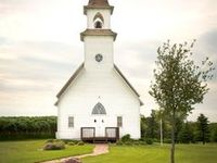Old white churches