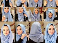 Hijab styles / simple,easy,amazing,style, comfort,chic,party,wedding,royal all the hijab styles are here follow