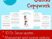 Copywork on pinterest charlottes web dr seuss and quotes