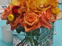 Aqua and Orange  Wedding