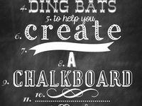 I love chalk. Here you'll find chalk paint projects, chalk boards, furniture, walls and objects painted with chalk paint etc.