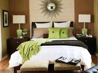Green & Brown Master Bedroom