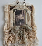 Great ways to use your lace and embleshment stash to creat and later.  Brings out the artist of you...
