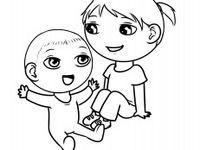big sister coloring pages   1000+ images about Big Sister Coloring Pages on Pinterest ...