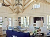 coastal living rooms / decorating ideas of living on the coast!
