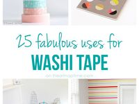 Washi tape and duct tape ideas
