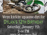 Dirtbike invitations