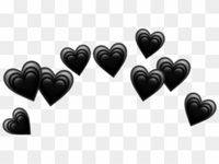 Heart Hearts Crown Black Tumblr Emoji Png Heart Crown Black Hearts Crown Png Transparent Png In 2021 Black Heart Emoji Heart Emoji Broken Heart Emoji