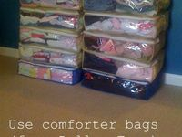 1000 images about comforter storage ideas on pinterest for Comforter storage ideas