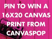 A wide variety of ways to turn any ordinary wall into a work of art. Thank you CanvasPop for the chance to win one.
