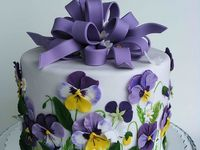 3 PURPLE wedding cakes