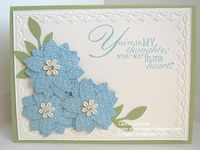 The cards on this board use flowers that have been punched out or diecut. The floral stamps are found on another board