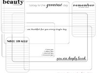 Printables: Home Journal ~ Calendars ~ Recipe Cards