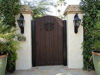 Fence Gates On Pinterest Wooden Gates Spanish Style And