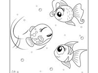 Fish Story Coloring Book Coloring Books Kids Coloring Books Easy Coloring Pages