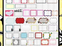 fonts,frames, and clipart