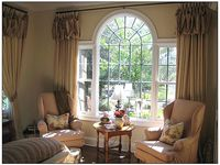 1000 images about curtain ideas on pinterest shaped for Window treatment for oval window