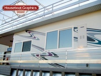 Best Striping Decals For Your Boat Or Houseboat Images On - Modern custom houseboat graphics