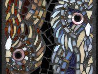 Mosaics-birds & butterflies