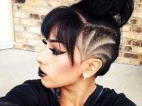Sidecut Frauen Muster Frisuren Haarschnitte 3
