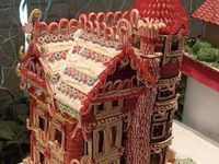 Mostly gingerbread houses. But there are some other food related buildings.
