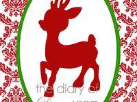 Christmas Printables -Signs, cards, tags, chalkboard